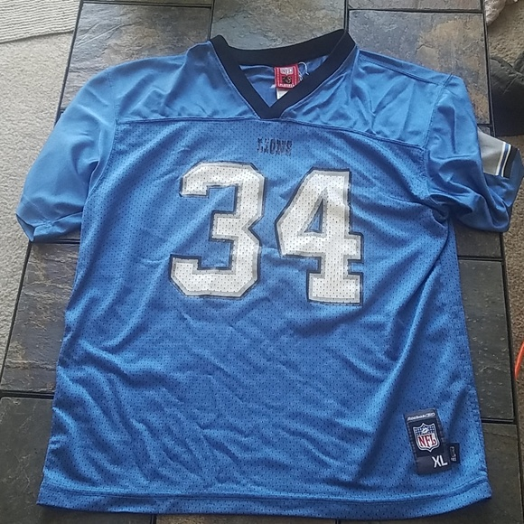 NFL Reebok Players Detroit Lions Jersey Jones #34